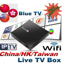 NEW BlueTV Internet Live Streaming TV Box Wifi 1080p IPTV TV BOX 全球適用 美加歐洲華僑適用
