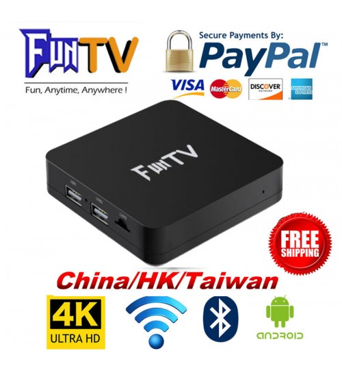 2018 New FUNTV 最新電視盒 TVBox Unblock CN/HK/Taiwan/VN Channel