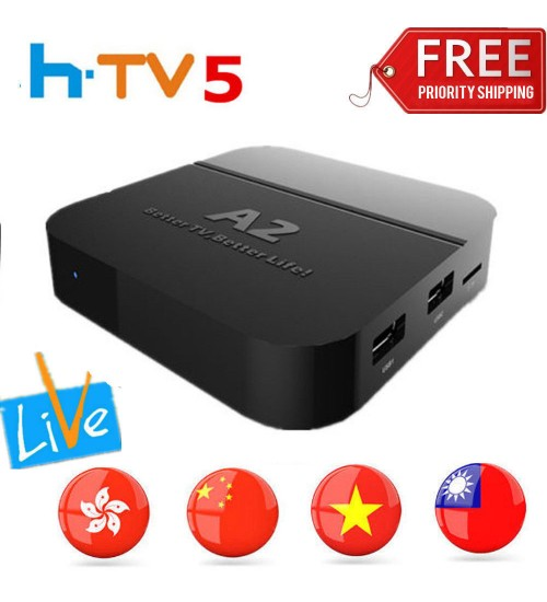 A2 TV BOX A1/HTV5 Upgrade Chinese/HK/TW/Viet Live TV H.265 Streamer 4K Fast Ship